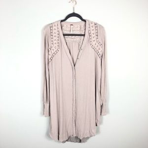 Free People Crepe Button Down Dress Tunic